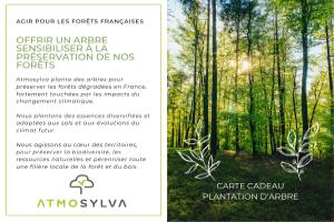 Cartes cadeau plantation d'arbre